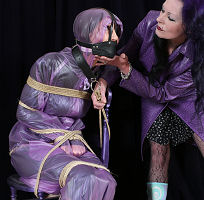 Skinny babe rainwear bondage photos sucking girls tits